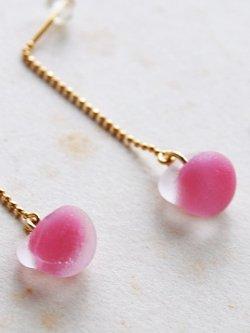 画像3: ガラスビースのピアス -pink-