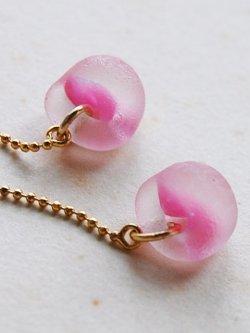 画像4: ガラスビースのピアス -pink-