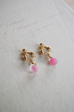 画像2: ガラスビースのイヤリング -pink-